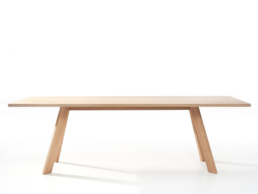 Rectangular wooden dining table TOSH | Table by more
