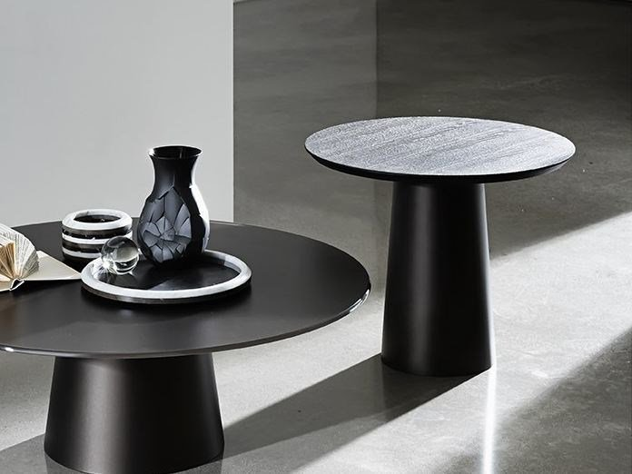 Glass coffee table TOTEM H. 48 - SOVET ITALIA