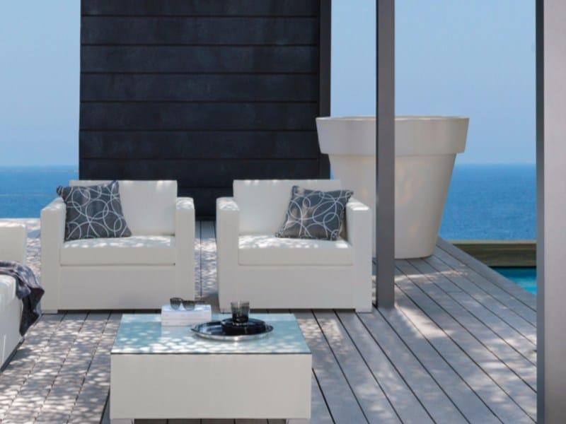 Textilene garden armchair with armrests TOUCH | Armchair - Talenti