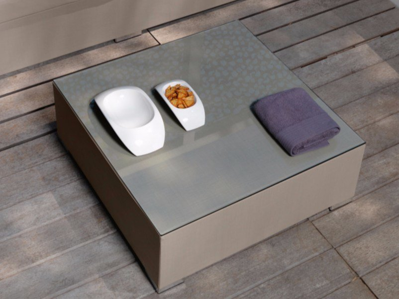 Low garden side table TOUCH | Low coffee table - Talenti