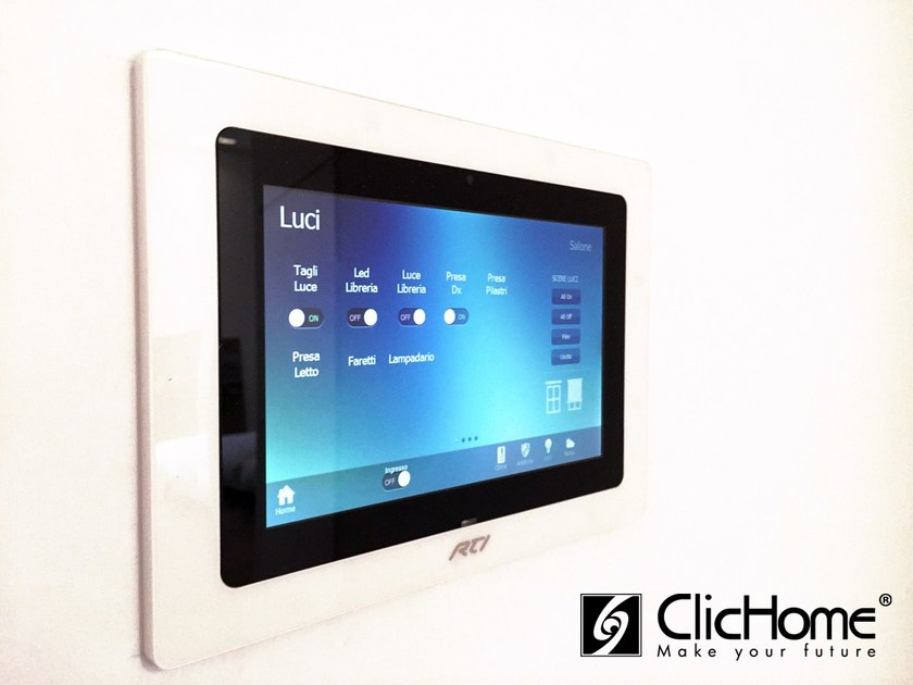 Automation component and system TOUCH SCREEN | Automation component and system - Domotica ClicHome