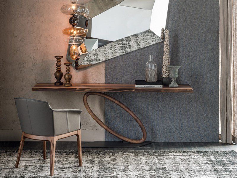 Rectangular walnut console table TOUR - Cattelan Italia
