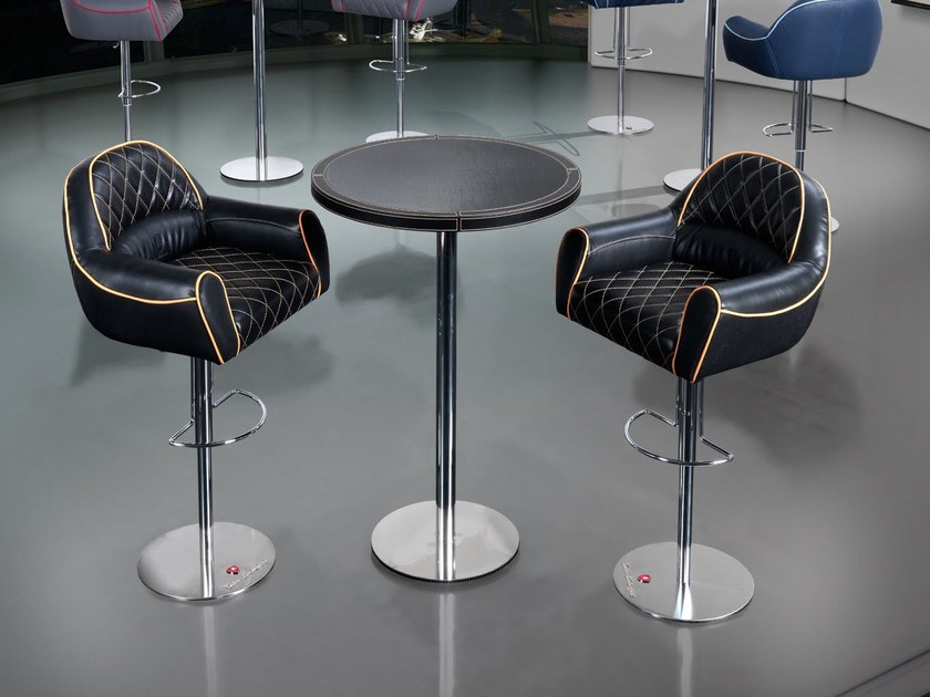 Round carbon fibre high table IMOLA | Table - Tonino Lamborghini Casa