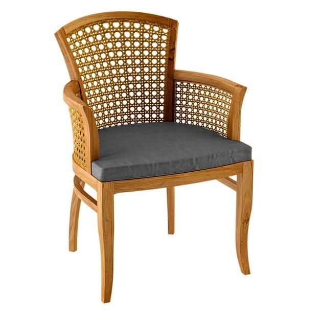Deco teak garden chair with armrests TOURNESOL | Garden chair with armrests - ASTELLO