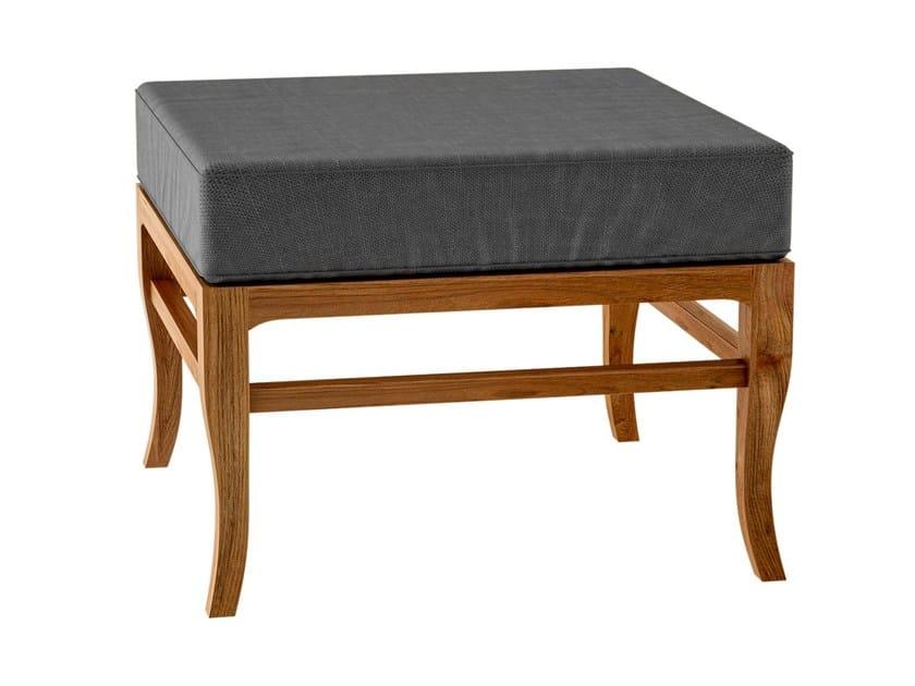 Deco teak garden footstool TOURNESOL | Garden footstool - ASTELLO