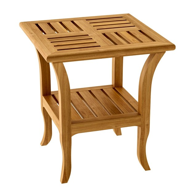 Deco square teak garden side table TOURNESOL | Square garden side table - ASTELLO