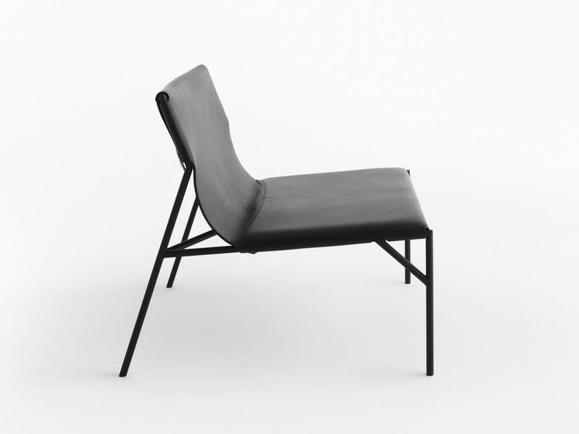 Tanned leather armchair TOUT LE JOUR | Armchair - HORM.IT