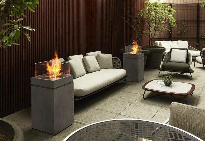 Freestanding bioethanol fireplace TOWER - EcoSmart Fire
