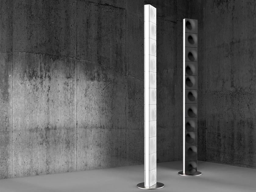 Direct light steel floor lamp TOWER - Exporlux