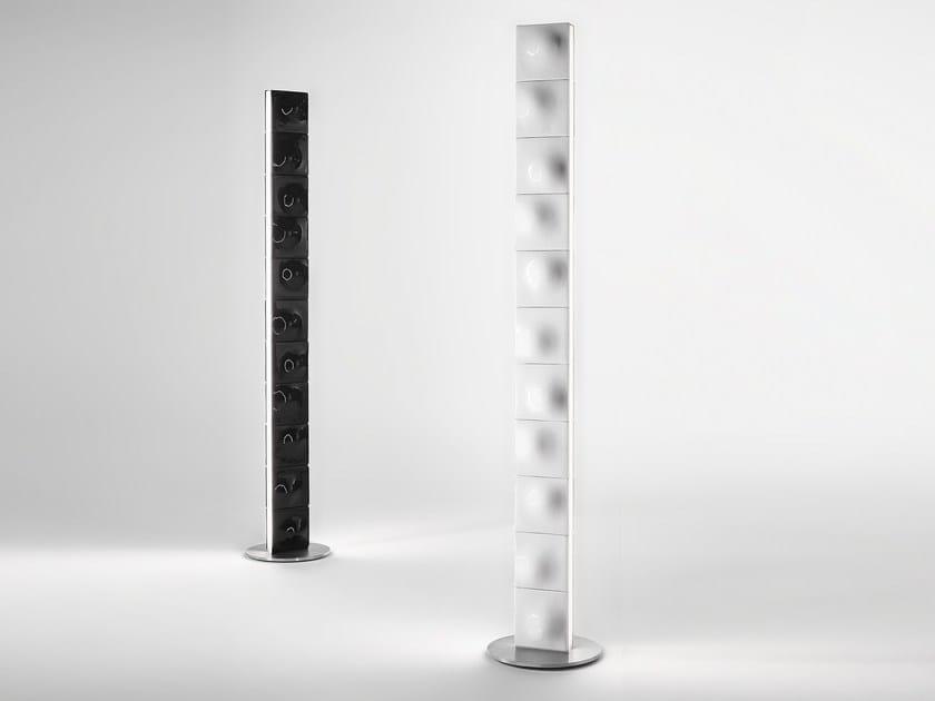 Direct light steel floor lamp TOWER by Exporlux