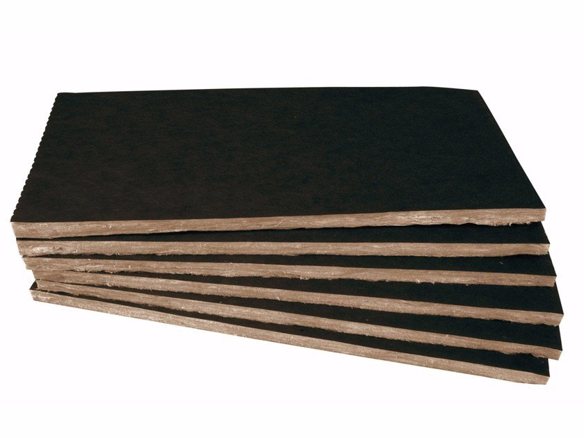 Glass wool Thermal insulation panel / Sound insulation and sound absorbing panel in mineral fibre TP 432 B - KNAUF INSULATION - Chivasso