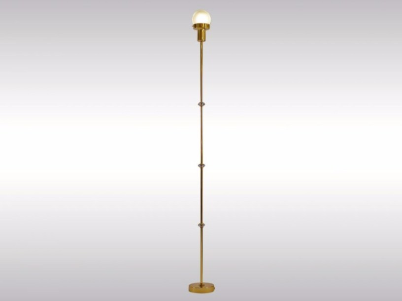 Brass floor lamp TRACK - Woka Lamps Vienna