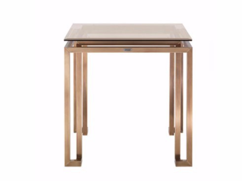 Square brass coffee table for living room TRAFALGAR | Square coffee table - Gianfranco Ferré Home
