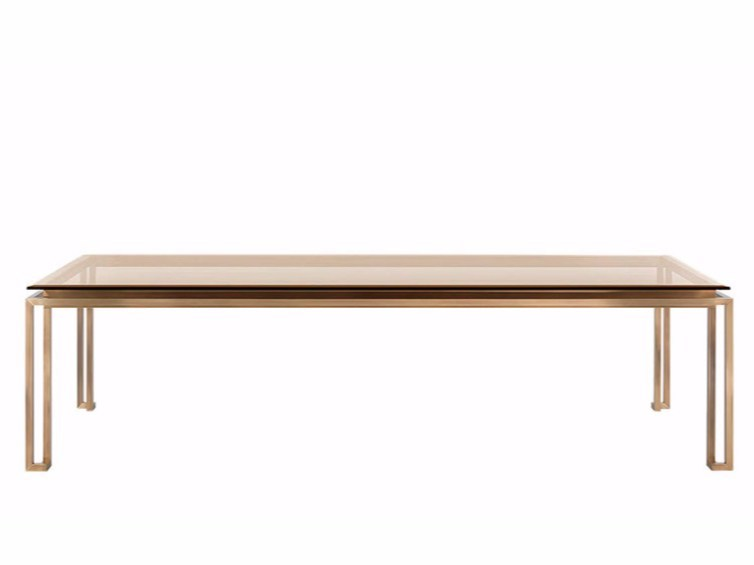 Tavolo da pranzo rettangolare in ottone TRAFALGAR | Tavolo - Gianfranco Ferré Home