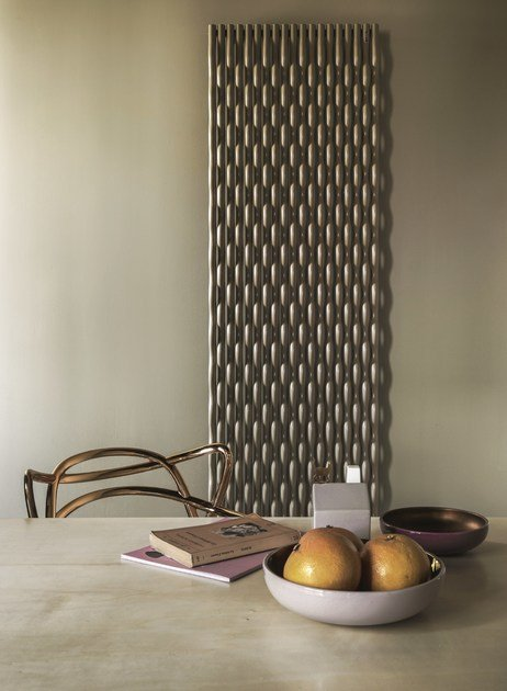 Wall-mounted decorative radiator TRAME - Tubes Radiatori