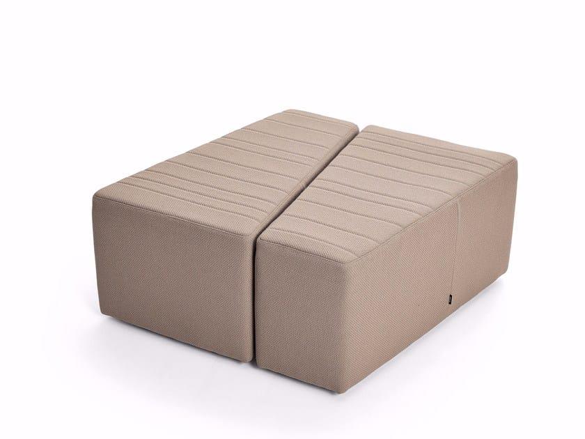 Fabric pouf TRAPEZIO - Varaschin