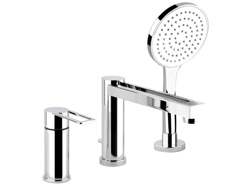 Bathtub mixer with hand shower TRASPARENZE 34234 - Gessi