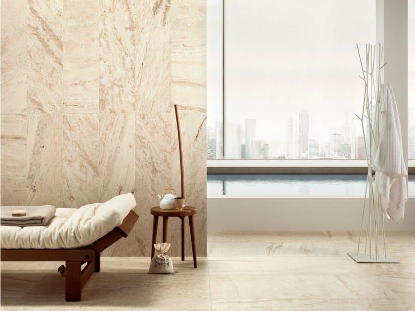 Porcelain stoneware wall/floor tiles with travertine effect TRAVERT BEIGE by ASTOR CERAMICHE