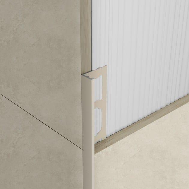 Bordo in alluminio per rivestimenti proangle zv trend color stone profilpas - Angoli per piastrelle ...