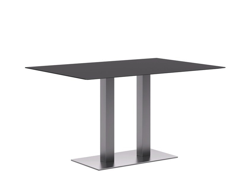 Brushed steel table base TREND D by Atmosphera