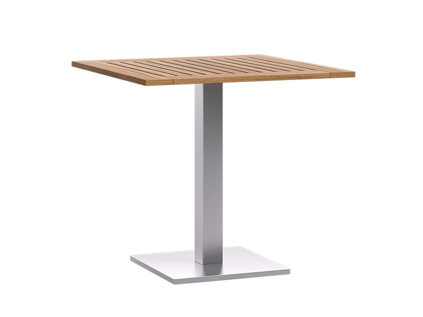 Brushed steel table base TREND Q by Atmosphera
