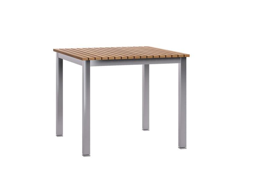Square teak garden table TREND | Table - Atmosphera
