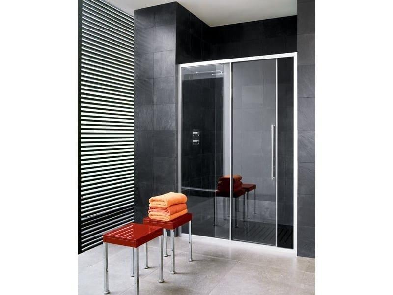 Niche glass shower cabin with sliding door TRENDY - 5 by INDA®