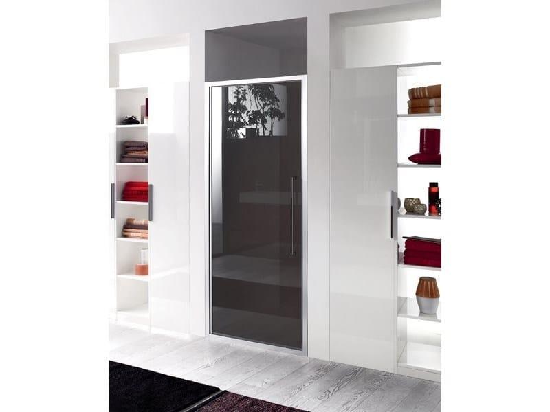 Box doccia a nicchia in vetro con porta a battente TRENDY - 6 - INDA®