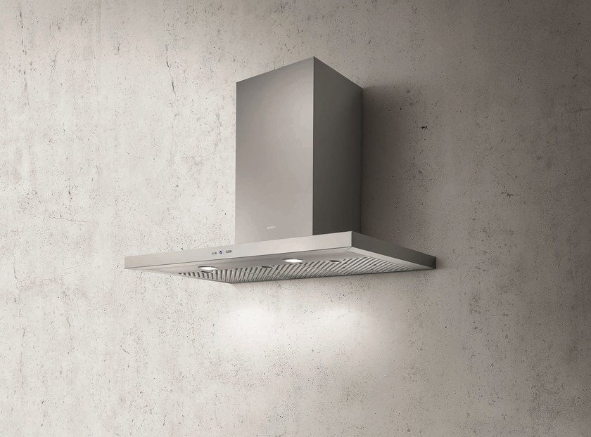 Wall-mounted stainless steel cooker hood TRENDY - Elica