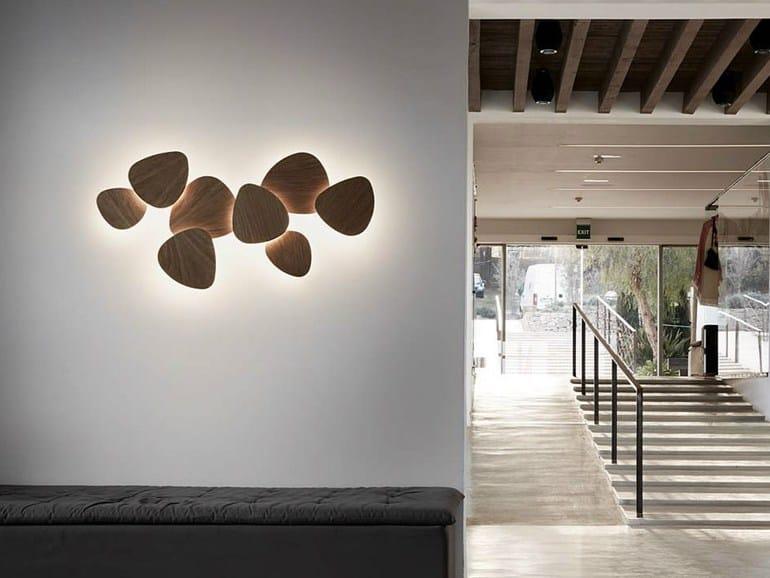 led beech wall light tria set 8 bover il luminaci mobiliario bover lighting