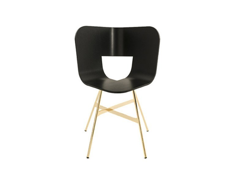 Stackable multi-layer wood chair TRIA GOLD - Colé Italian Design Label