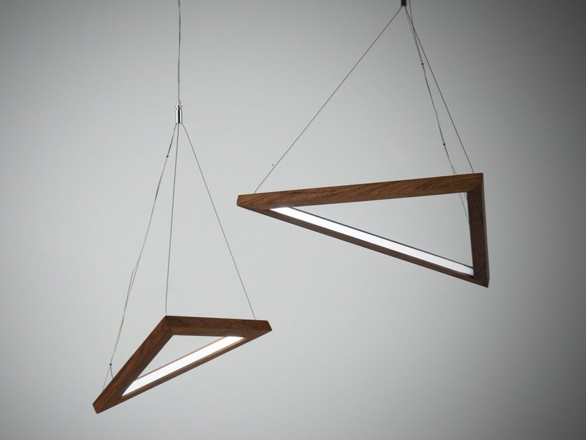 LED indirect light pendant lamp TRIANGLE | Pendant lamp by hollis+morris