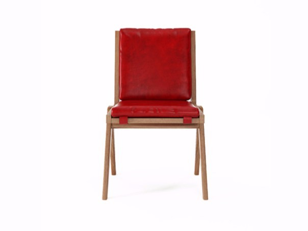 Upholstered leather chair TRIBUTE TB07-T - KARPENTER