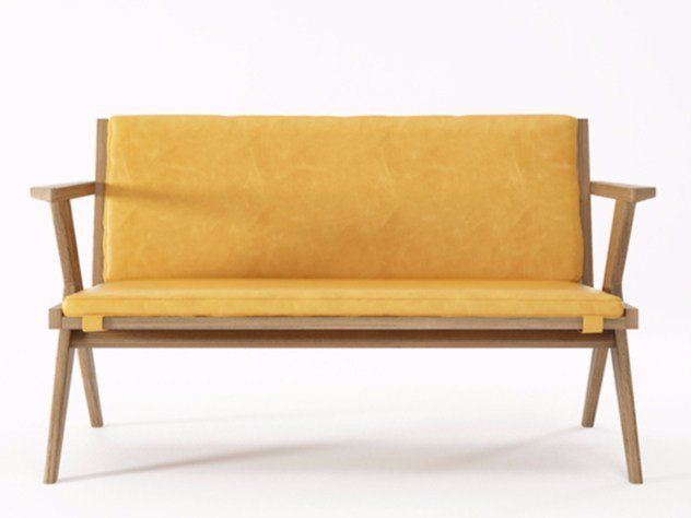 2 seater leather sofa TRIBUTE TB17-O by KARPENTER