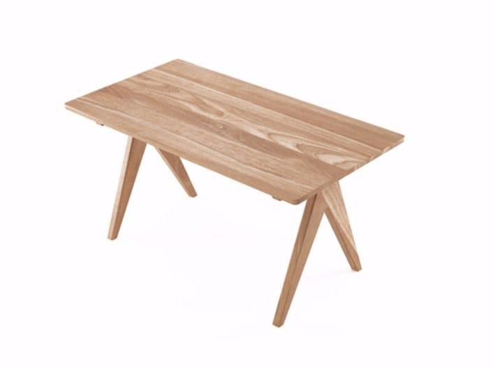 Rectangular teak table TRIBUTE | Teak table - KARPENTER