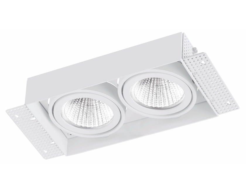 Faretto a LED rettangolare in alluminio da incasso TRIMLESS 2x9W - LED BCN Lighting Solutions