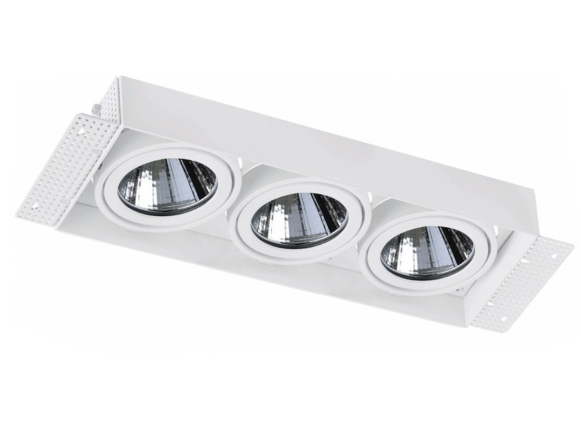 Faretto a LED rettangolare in alluminio da incasso TRIMLESS 3x33W - LED BCN Lighting Solutions