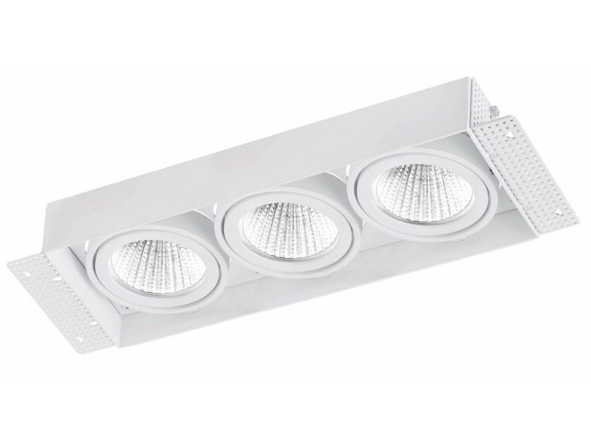 Faretto a LED rettangolare in alluminio da incasso TRIMLESS 3x9W - LED BCN Lighting Solutions