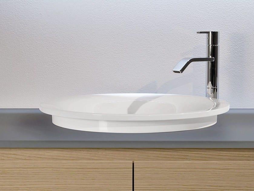 Round Ceramilux® washbasin TRIOTONDO - Antonio Lupi Design®