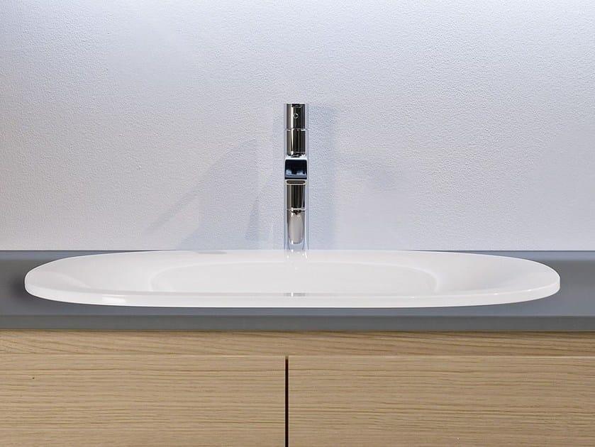 Oval Ceramilux® washbasin TRIOVALE - Antonio Lupi Design®