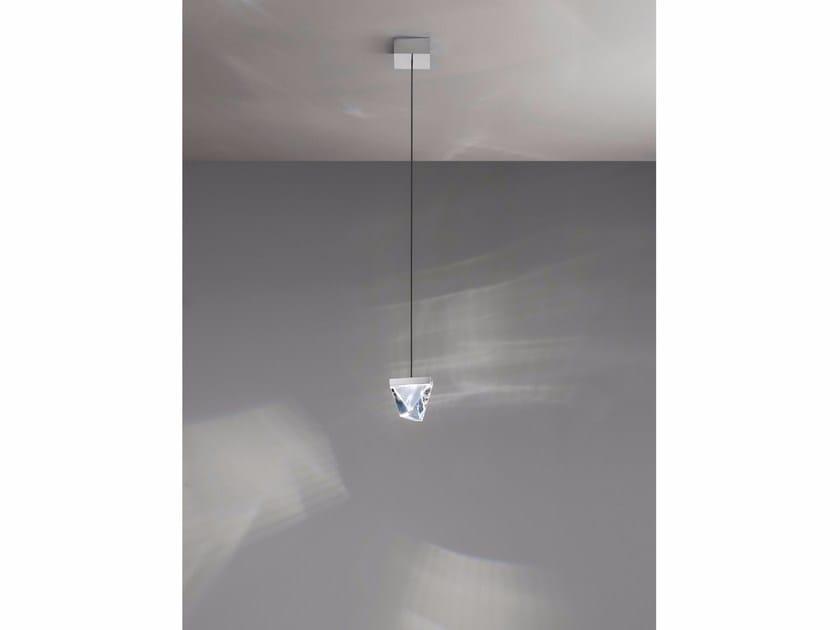 LED crystal pendant lamp TRIPLA | Pendant lamp - Fabbian