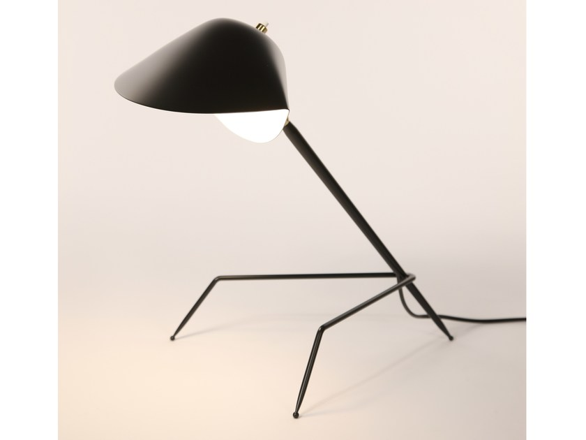 Adjustable metal desk lamp TRIPODE by Serge Mouille