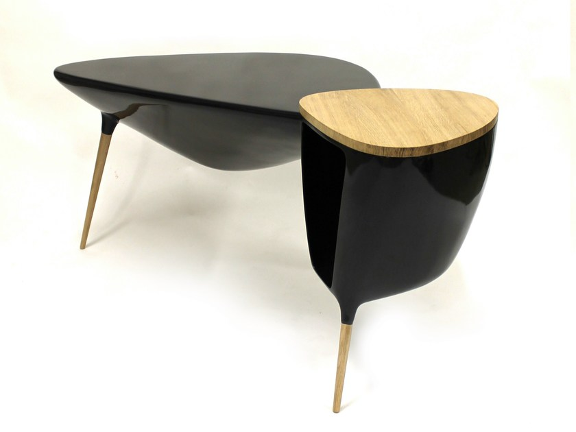 Resin writing desk TRIPODE | Writing desk - Binome