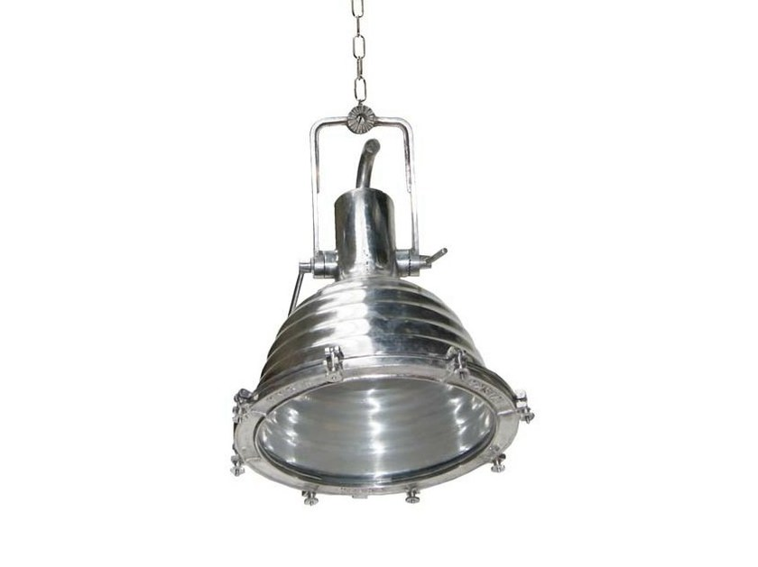 Handmade adjustable pendant lamp TRIPOLI LARGE ALUMINIUM CARGO LIGHT - Mullan Lighting