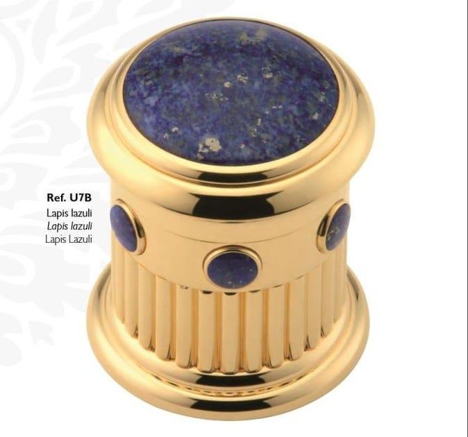 Miscelatore per lavabo color oro in metallo in stile classico con finitura lucida con rosette separate TROCADERO LAPIS LAZULI | Miscelatore per lavabo - INTERCONTACT