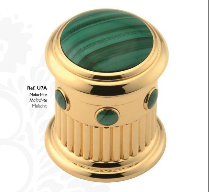 Classic style 3 hole metal washbasin mixer with aerator with polished finishing TROCADERO MALACHITE | Washbasin mixer - INTERCONTACT