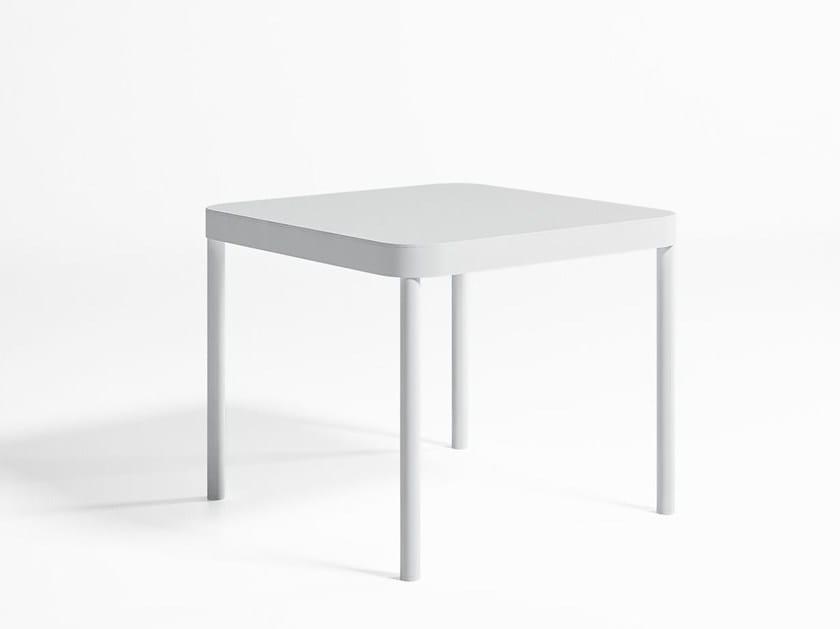 Square thermo lacquered aluminium garden table TROPEZ | Square table - GANDIA BLASCO