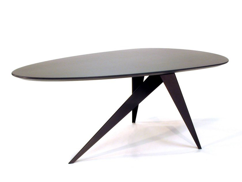 Steel and wood table TROUVE 3-LEGS - ZinX®