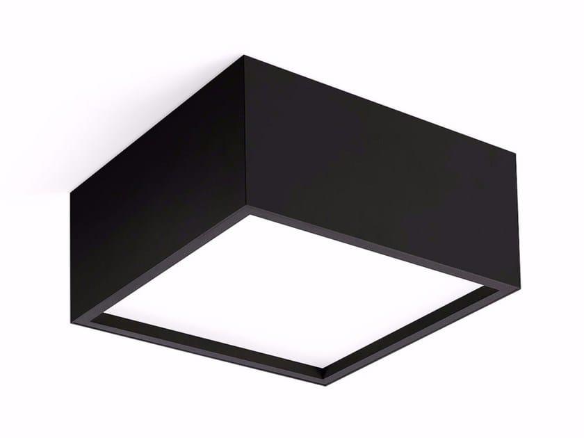 LED direct light ceiling lamp TRYBECA SURFACE SQUARE - Reggiani Illuminazione