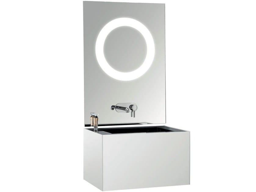 Single marble washbasin countertop TSQ - International Swiss Concepts